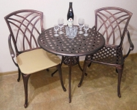 Комплект мебели Конвессо. Круглый стол и два кресла