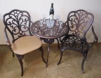 Комплект литой мебели Кружева  стол и два кресла. ОПТ