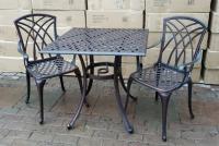 Комплект Конвессо. Квадратный  большой стол и 2 кресла. ОПТ