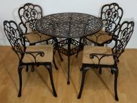 Комплект литой мебели Корсика new стол и 4 кресла
