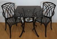 Комплект Конвессо. Квадратный  большой стол и 2 кресла.