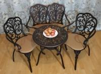 Комплект мебели Кружева. Стол кофейный, два кресла и диван. ОПТ