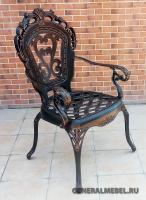 Кресло Корона Вензель литое из алюминия