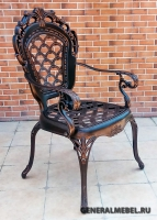 Кресло Корона Арки литое из алюминия