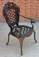 Кресло Корона Ромбы литое из алюминия