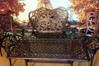 Комплект стол Кружева балконный, диван и 2 кресла Кружева.