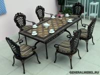 Стол Керамик обеденный. Столешница с керамической мозаикой.