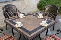 Комплект стол Керамик квадратный и 4 кресла Латиссимо.