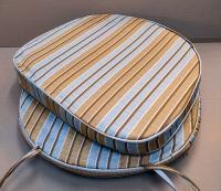 Подушка для кресла Корона в полоску.