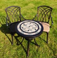 Комплект два кресла Конвессо и стол Керамик круглый 60см.