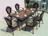 Комплект Корона Керамик обеденный стол 160х90см и 6 кресел