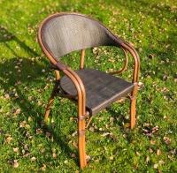 Кресло Кастор с плетением.