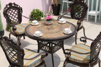 Комплект стол Керамик круглый 85см и 4 кресла Корона.