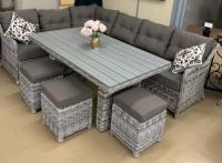 Комплект мебели ПАРИЖ  с большим столом, 6 предметов