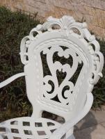 Кресло Корона Вензель белое.