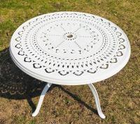 Стол Зефир диаметр 1 метр белый.