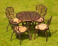 Комплект мебели Кружева. Стол 85см  и 4 кресла