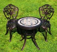 Комплект стол Керамик 60см и два стула Бранш