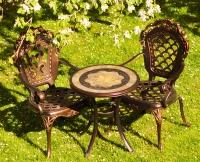 Стол Керамик Антик и 2 кресла Корона