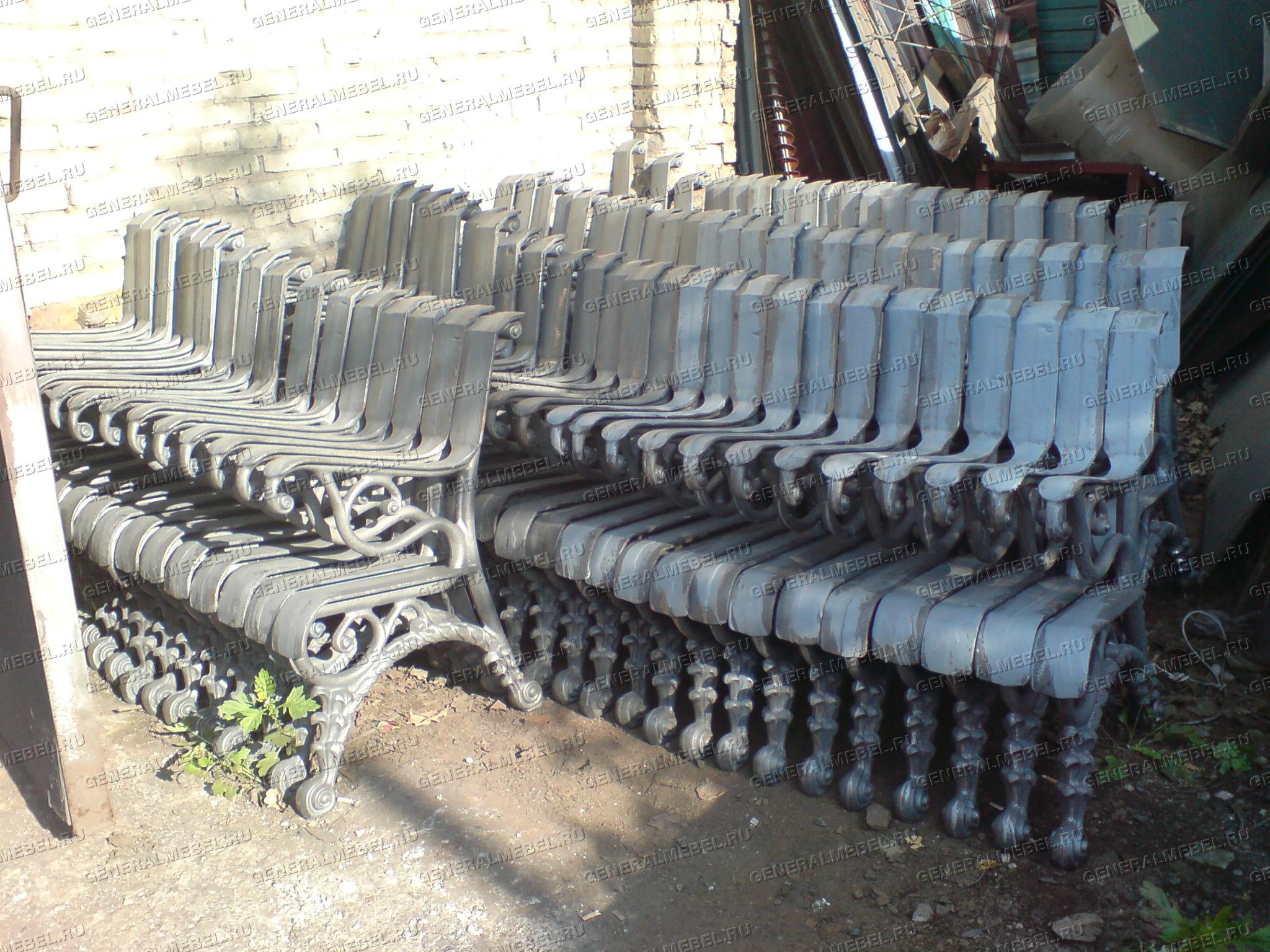 chugunnaia lavka скамейка садовая купить на заводе, фото боковин чугунных скамеек, литые лавки на дачу