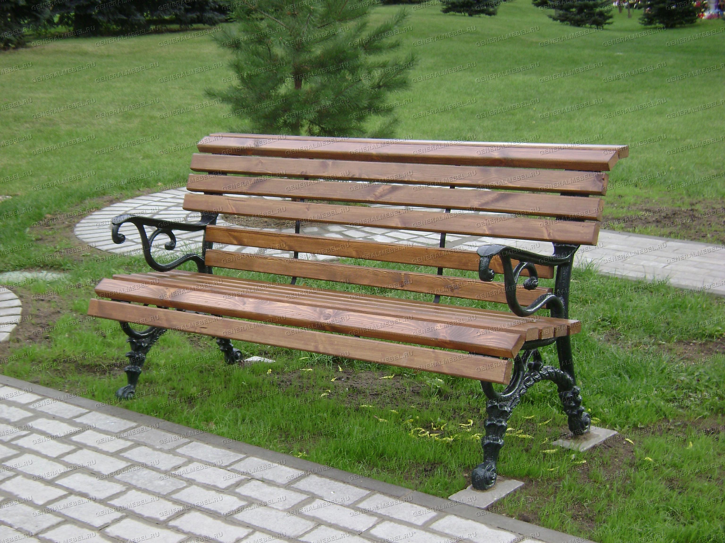 садовая скамейка чугунная фото