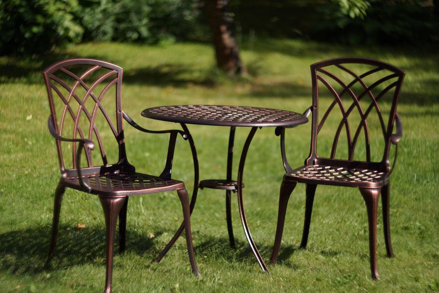 мебель литье алюминия для дачи загородного дома, кресла на террасу и веранду, мебель на балкон и лождию, мебель бистро для кафе и пансионатов
