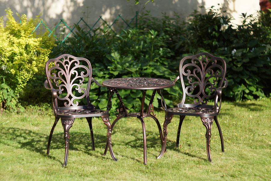 Мебель для дачи сада загородного дома литая из алюминия и чугуна, садовая мебель патио и барбекю для ресторанов и кафе
