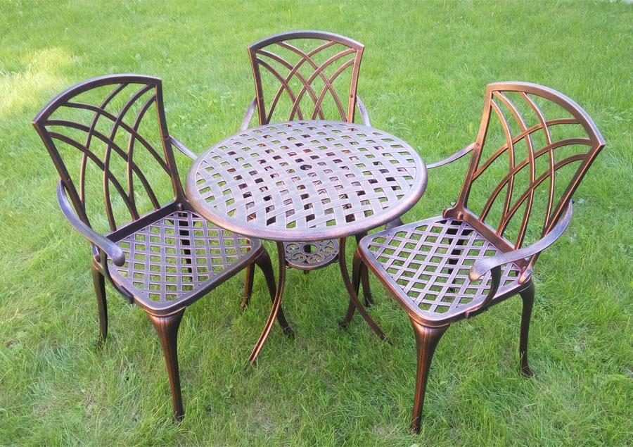 садовая мебель для дачичугунные столы и стулья садовая