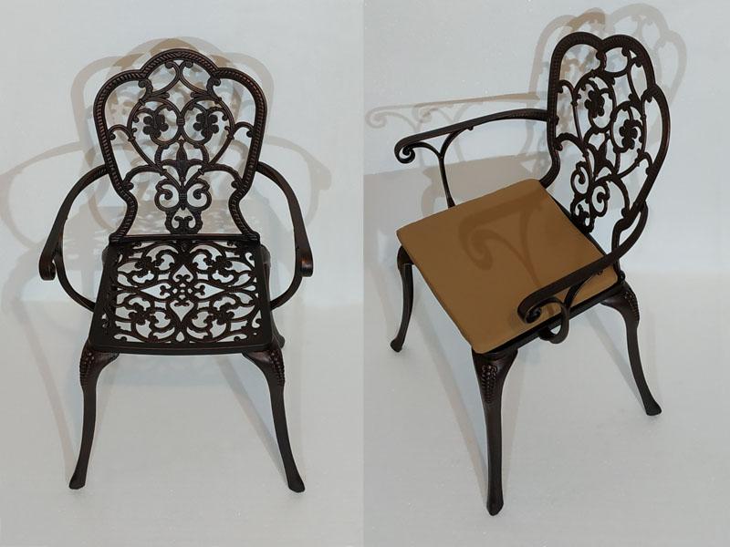 Кованое кресло Корсика new литое из чугуна и алюминия, садовая мебель из металла для дачи, литая мебель из чугуна и алюминия для таунхауса и кафе