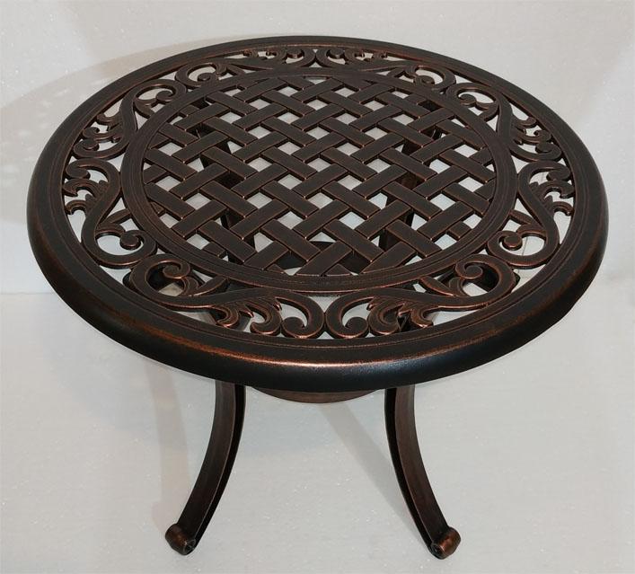 Стол кофейный из металла садовый литой из алюминия для дачи и кафе HoReCa, чугунная мебель патио литая из силумина столы стулья и кресла