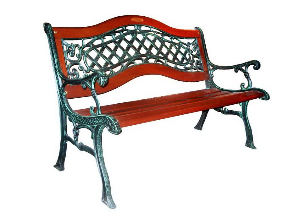Чугунная скамейка на дачу для загородного дома из металла мебель литье алюминия столы и кресла для кафе