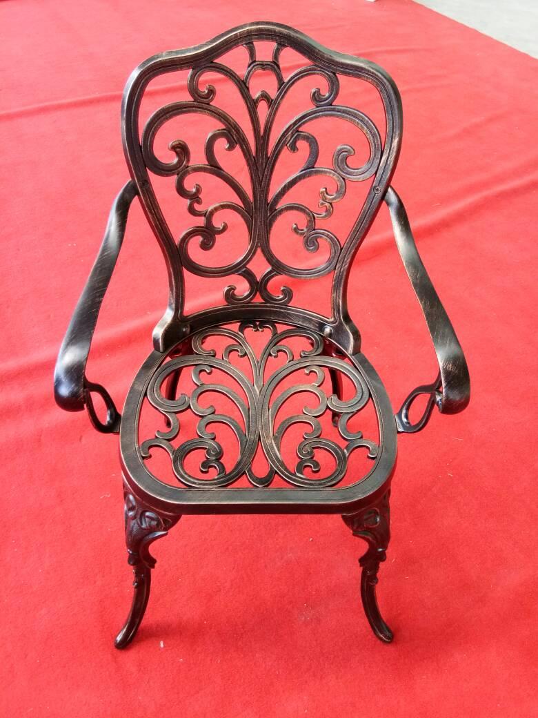 Литое кресло силумин для дачи, садовая мебель литая всесезонная для улицы, столы и кресла для кафе и ресторанов