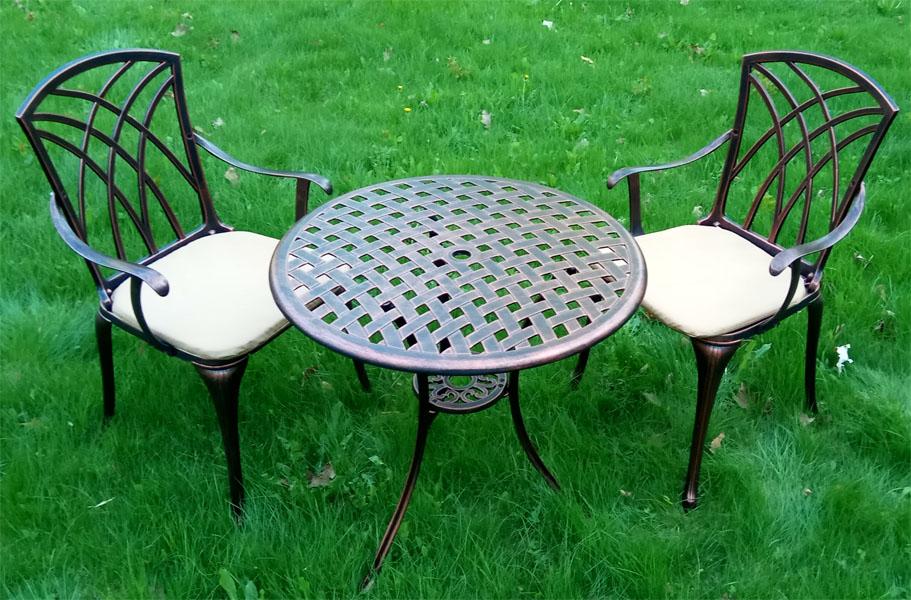 Литая мебель бистро кресла и столы из алюминиевого сплава барбекю мебель в беседку