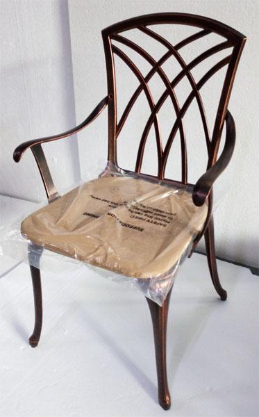 Литая мебель для сада и дачи, кресло Конвессо из алюминия