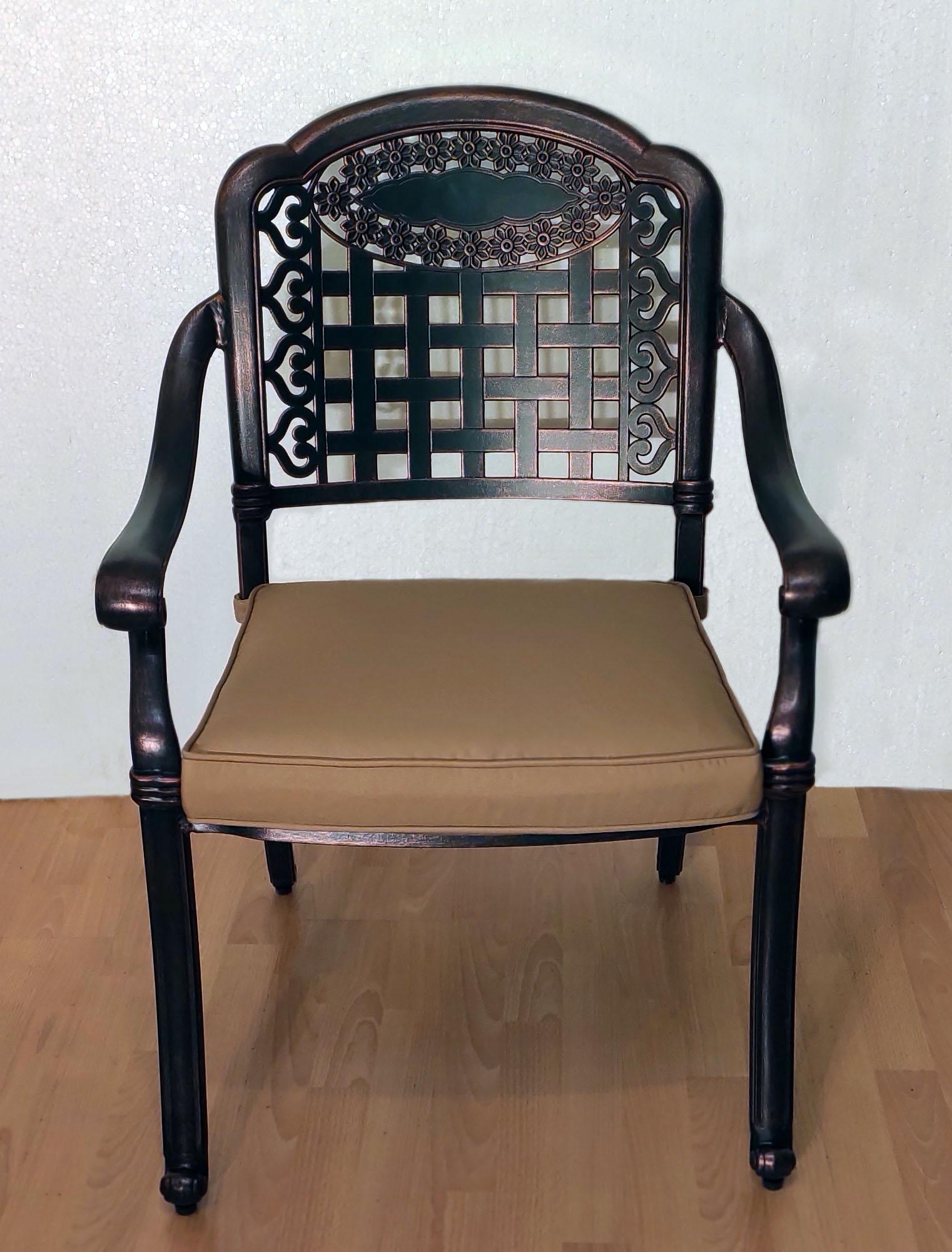 Кресло уличное металлическое, мебель из литого алюминия, стул для сада и дачи из металла, мебель для кафе из металла, уличная мебель из алюминия и чугуна, чугунная мебель, металлический стул садовый
