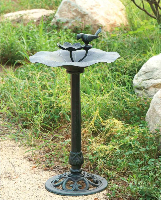 Кормушка поилка для птиц, садовый декор, чугунная мебель для сада, парковые украшения, литой садовый декор,