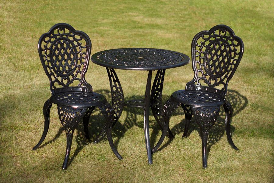 Садовая чугунная мебель литая из алюминия для дачи, комплекты столов и стульев для кафе и ресторанов