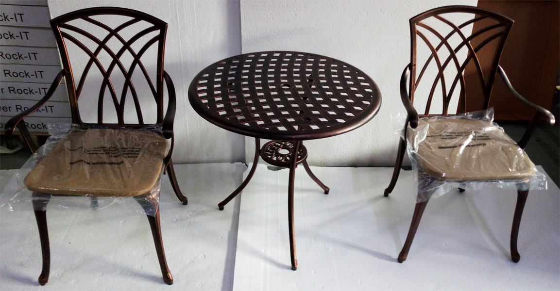 Металлическая садовая мебель литая из алюминия
