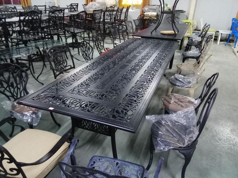 обеденный стол литье силумин алюминиевый сплав для уличной мебели патио