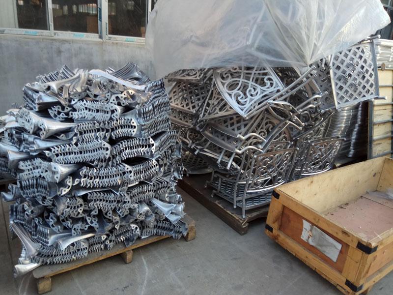 Литые боковины кресел из алюминиевого сплава детали мебели бистро