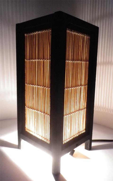 светильник с плетением
