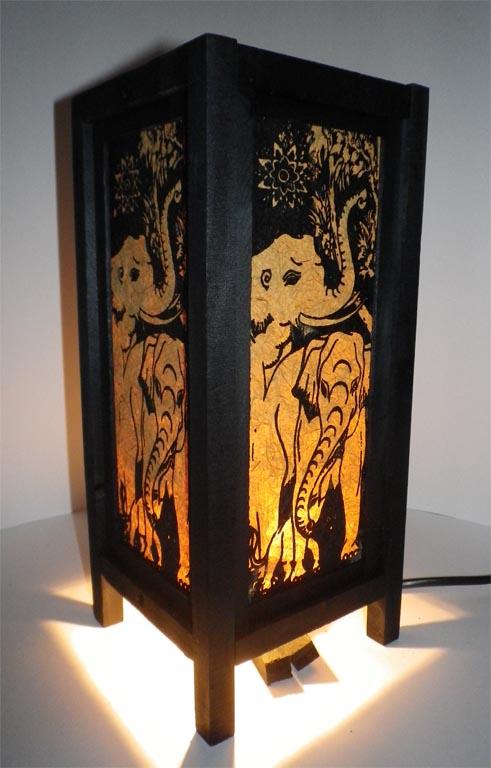 светильник тайский слоны